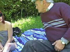 Old Men Fucking Young Slut In A Meadow Porn Ba Xhamster