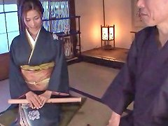 Gorgeous Japanese Milf In Traditional Clothing Receives A Hot Facial
