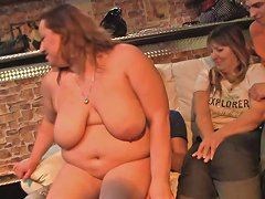 Chubby Party Girl Takes Off Her Clothes At Bbw Party Porn Videos