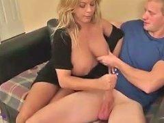Mom Helps With A Handjob On Tits Txxx Com
