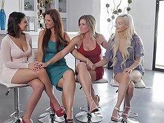 Adorable Brunette Chooses A Hot Blonde For The Best Lesbian Sex Ever