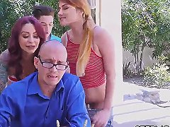 Hardcore Rough Fuck First Time Awesome 4th Of July Threesome