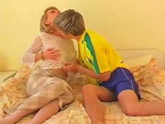 Sexy Cougar Fucks With A Young