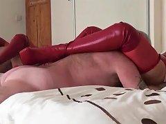 Linda Li Kinky Boots And Red Latex
