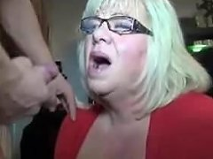 Big Bad Blonde Momma Gets A Blasting Facial