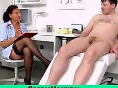 A Patient Receives A Handjob From Granny Nurse Linda