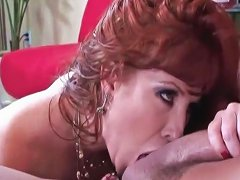 Cougar Sensually Worships Cock With Her Mouth
